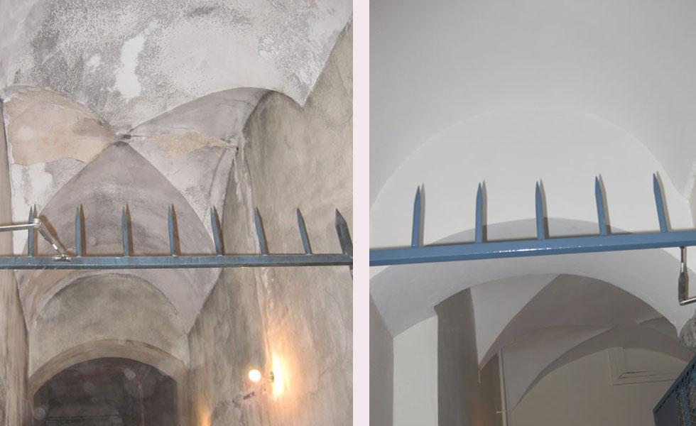 Plâtre sur plafond vouté – Croix-Rousse