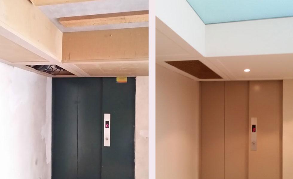Rénovation cage d'ascenseur – Oullins