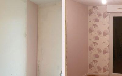 Pose tapisserie chambre – Brindas