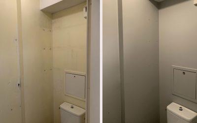 Rénovation platrerie peinture dans WC – Lyon 6