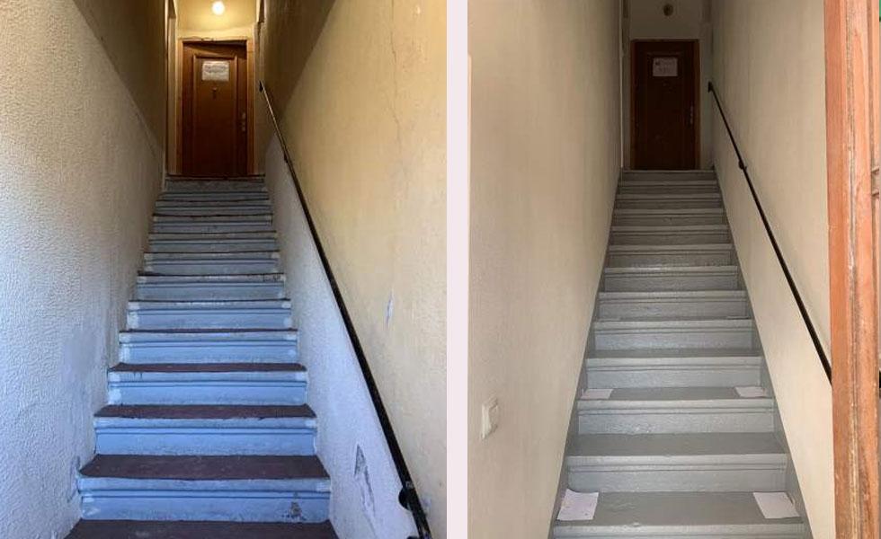 Rénovation montée d'escalier – Brindas