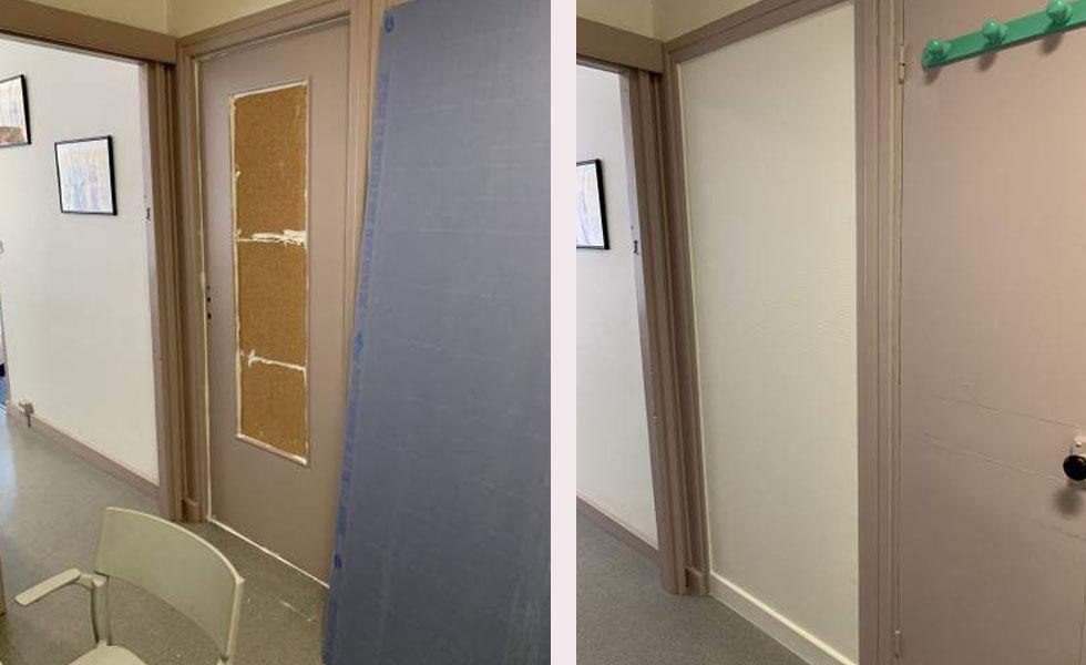 Suppression d'une porte de salle d'attente – Lyon 5°